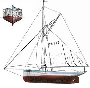 lines drawing of BETTY CK145